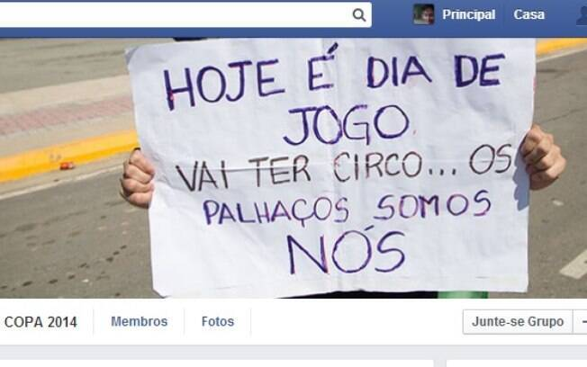 A página no Facebook do movimento