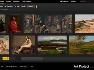 Site Google Art Project com obras da Pinacoteca do Estado