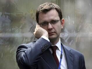 Andy Coulson, ex-editor do News of the Wold e ex-porta-voz de Cameron, em foto de 2010