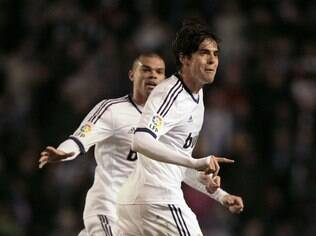 Kaká comemora gol do Real Madrid