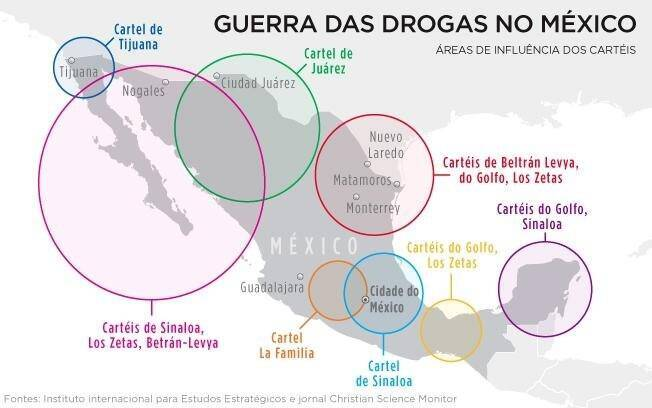 Cartéis de drogas do México contornam a ofensiva do Estado e disputam rotas do tráfico