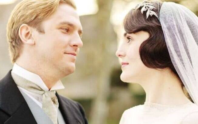 Dan Stevens e Michelle Dockery em 'Downton Abbey'