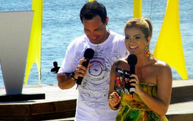 Celso Cavallini e Kelly Key, apresentadores do