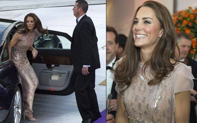 Príncipe William e Kate Middleton chegam ao evento