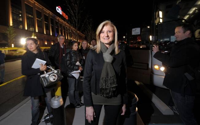 Cofundadora do Huffington Post Arianna Huffington é vista em Nova York