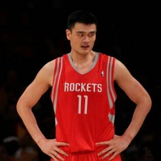 Yao Ming durante jogo do Houston