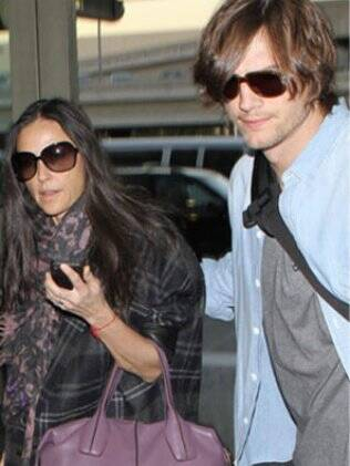 Ashton Kutcher e Demi Moore