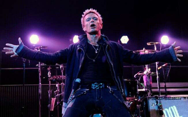 O cantor americano Billy Idol