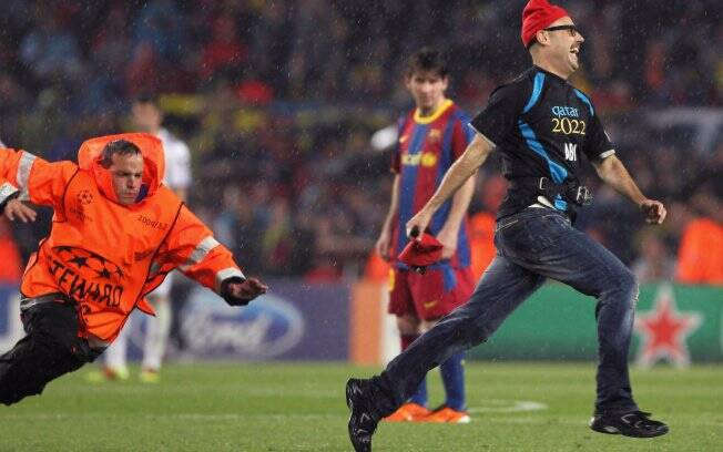 Jimmy Jump todo sorridente no Camp Nou