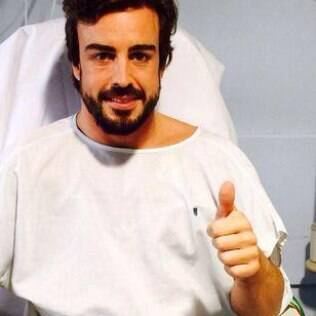 Fernando Alonso no hospital