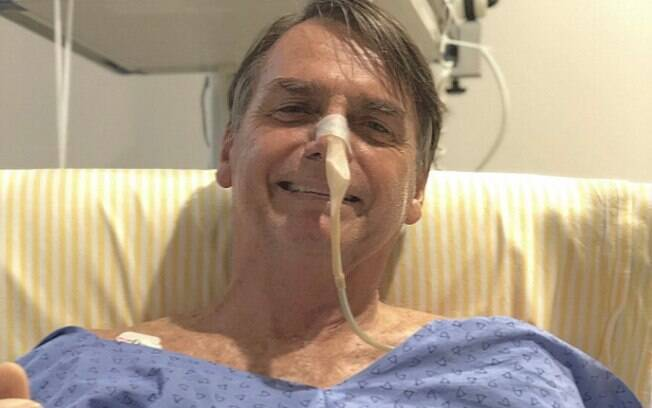 Jair Bolsonaro no hospital