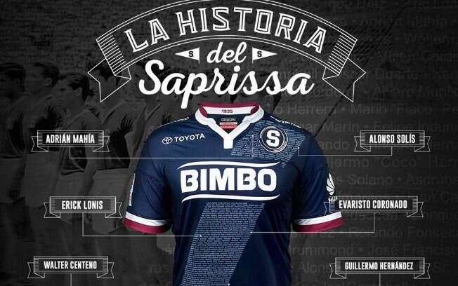 Camisa do Deportivo Saprissa, eleita como a mais bonita do mundo