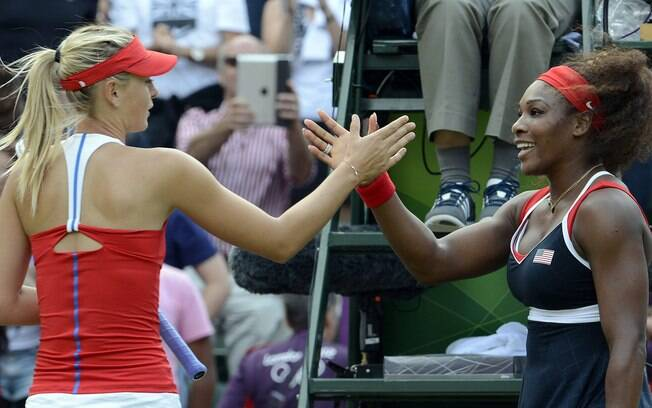 Serena Williams elogiou postura de Maria Sharapova
