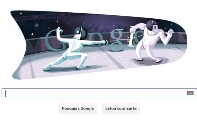 Logotipo especial do Google homenageia atletas de esgrima