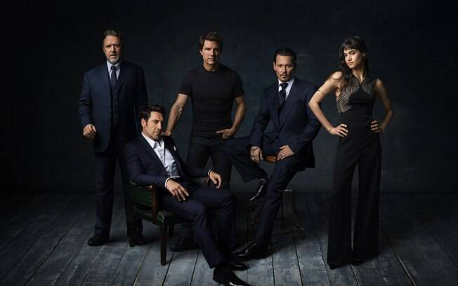 Javier Bardem, Johnny Depp, Russell Crowe, Tom Cruise e Sofia Boutella estão à frente do Dark Universe
