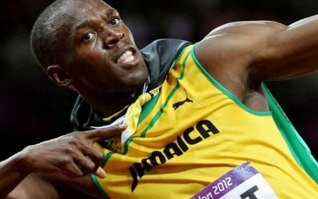 Com 9s58, Bolt é o detentor do recorde mundial nos 100m rasos
