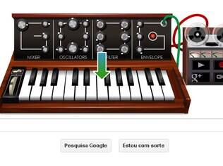 Novo doodle permite compartilhar sons obtidos com sintetizador virtual no Google+ ou incluir código em sites