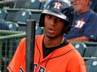 Danry Vasquez com o uniforme do Houston Astros