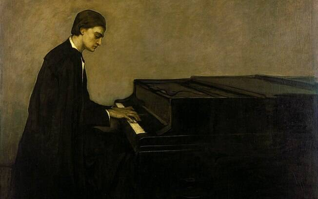 Renata Borgatti, au piano (1920), obra de Remaine Brooks