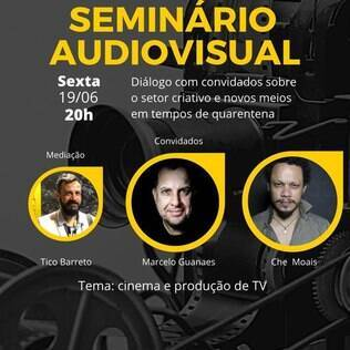 Cartaz do seminário audiovisual