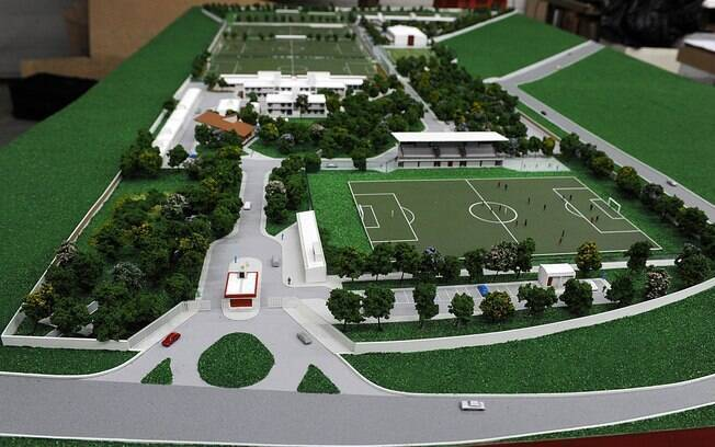 Maquete do CT do Flamengo: valor da ação perdida é mais do que o dobro do custo das obras