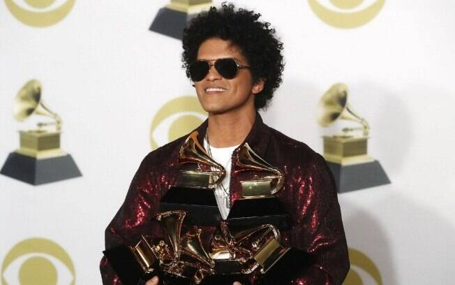 Bruno Mars foi o grande vencedor do Grammy Awards 2018