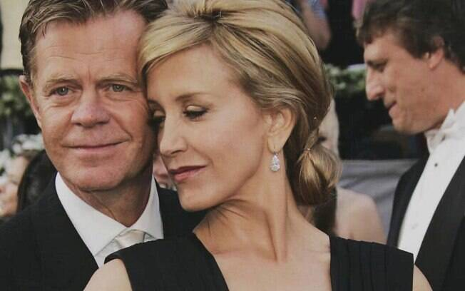 Felicity Huffmann e o marido, William Macy