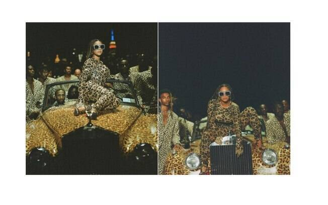 Beyoncé usal animal print em cena de Black Is King