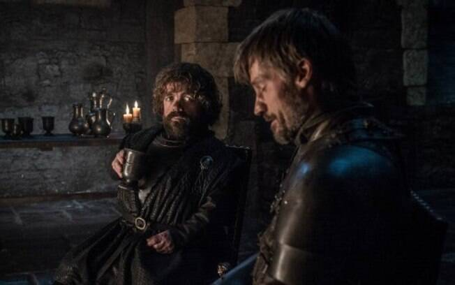 tyrion e jaime conversam em cena de game of thrones