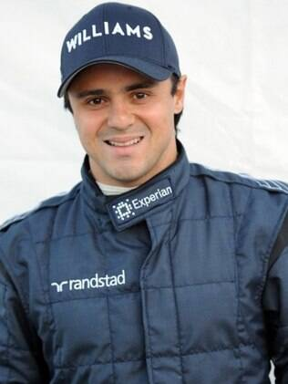 Felipe Massa com o macacão da Williams