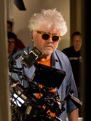 Almodóvar no set de
