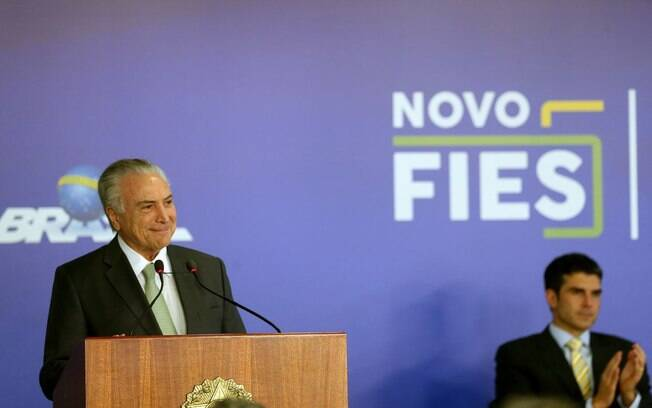 Presidente Michel Temer sanciona a Lei do Novo Fies