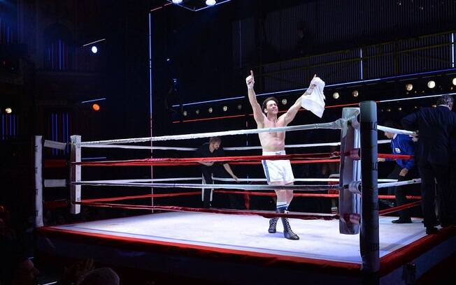Cena do musical 'Rocky', que estreou na Broadway