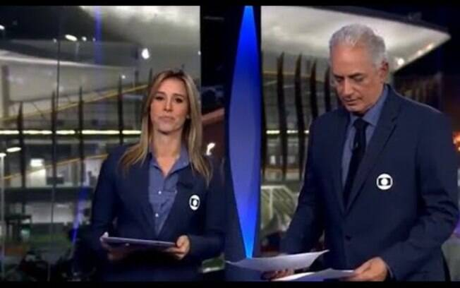 William Waack  e Cristiane Dias